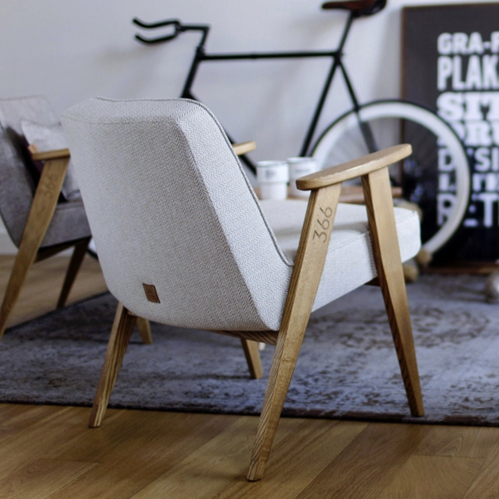 366 Wool armchair mustard 366 Concept