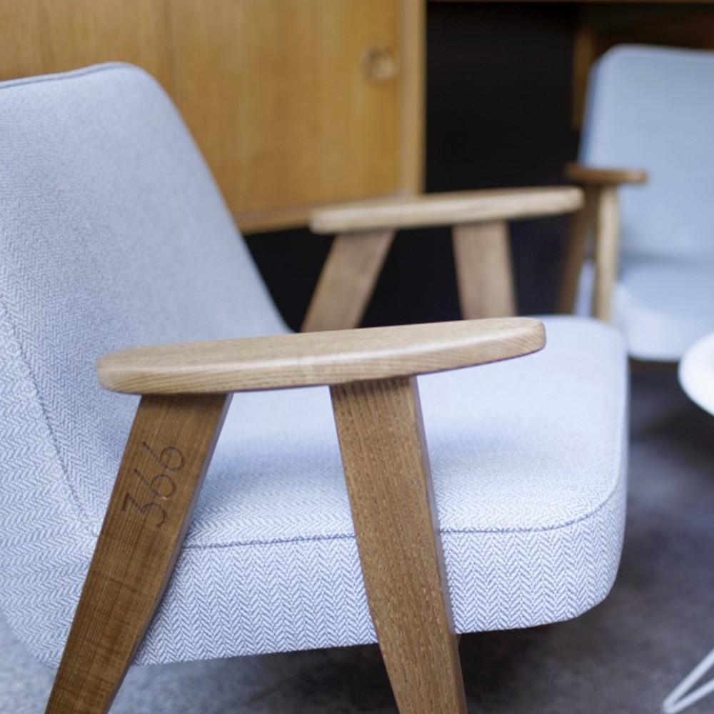 Fauteuil 366 Laine blanc & bleu 366 Concept