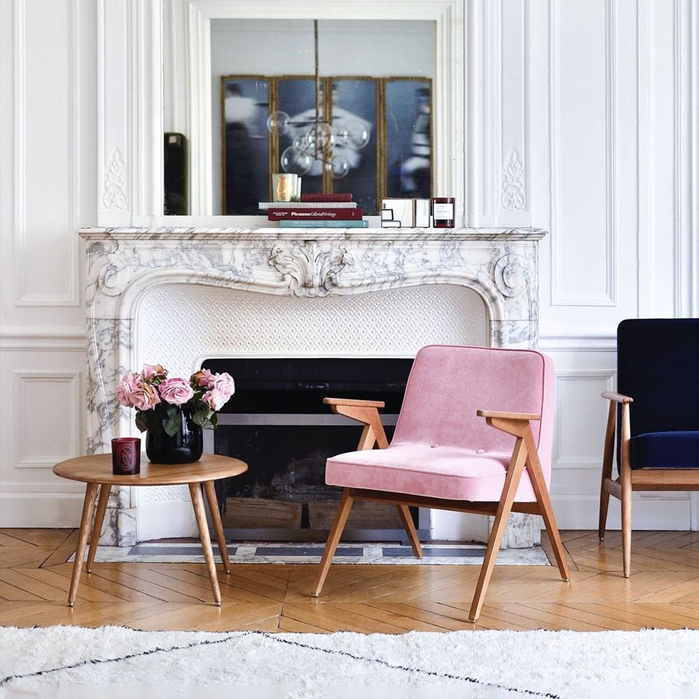 Bunny armchair Velvet sky blue 366 Concept