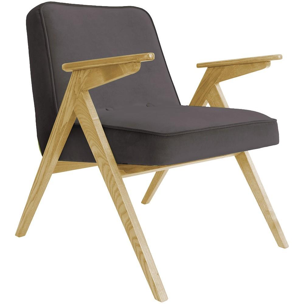 Bunny armchair Velvet graphite 366 Concept