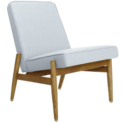 Fox Club Chair wool blue & white 366 Concept