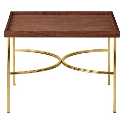 Unity table walnut & gold AYTM