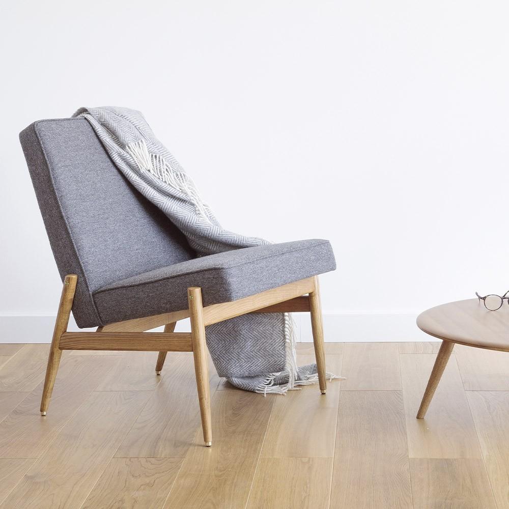 Fox Club Chair wool bottle green 366 Concept