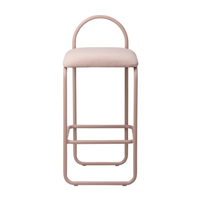 Chaise de bar Angui rose 82 cm AYTM
