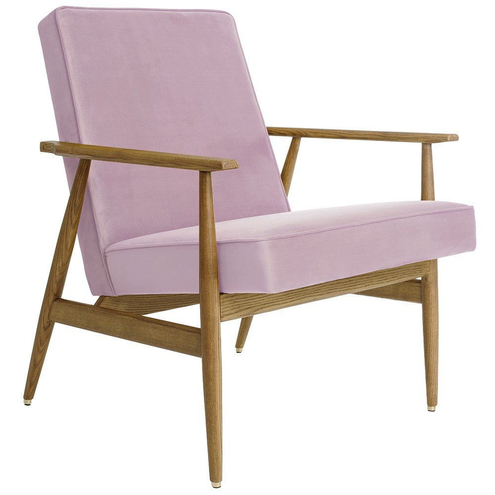 Fox armchair Velvet powder pink 366 Concept
