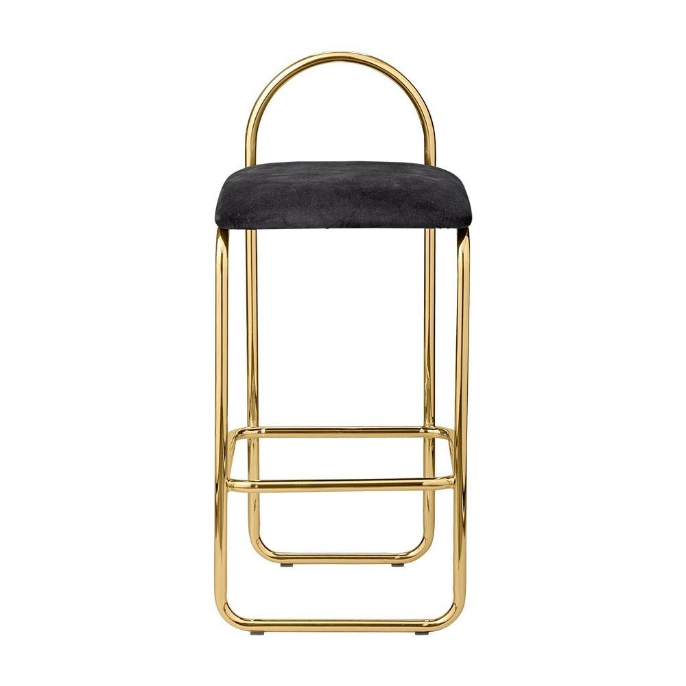 Angui bar chair anthracite & gold 82 cm AYTM