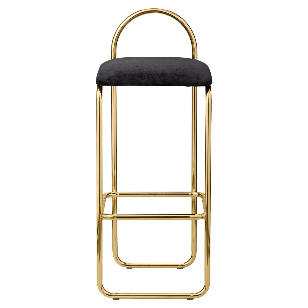 Angui bar chair anthracite & gold 92 cm AYTM