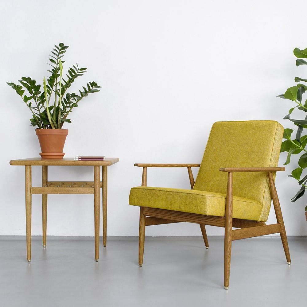 Fox fauteuil Mosterd wol 366 Concept