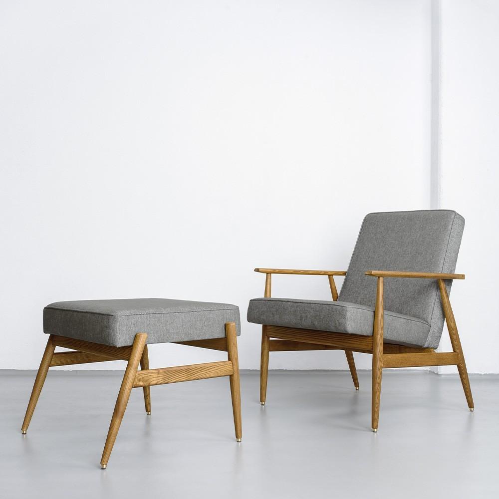 Fox fauteuil wit & blauw wol 366 Concept