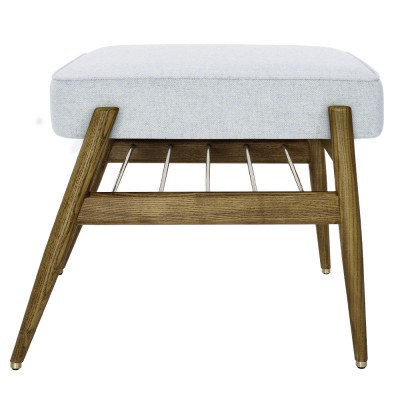Fox footrest Wool white & blue 366 Concept