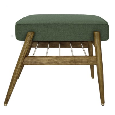 Fox footrest Wool bottle green 366 Concept