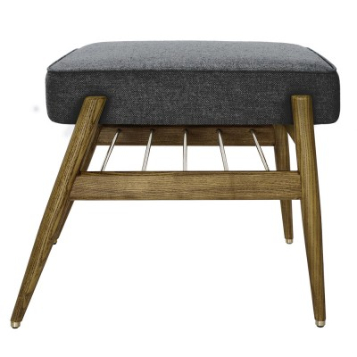 Fox footrest Wool black & grey 366 Concept