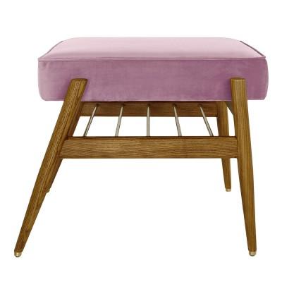 Fox footrest Velvet powder pink 366 Concept