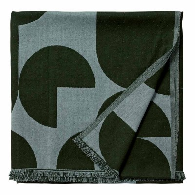 Forma throw forest & pale mint