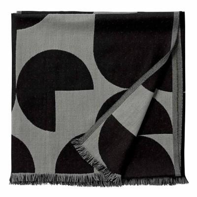 Plaid Forma noir & gris clair