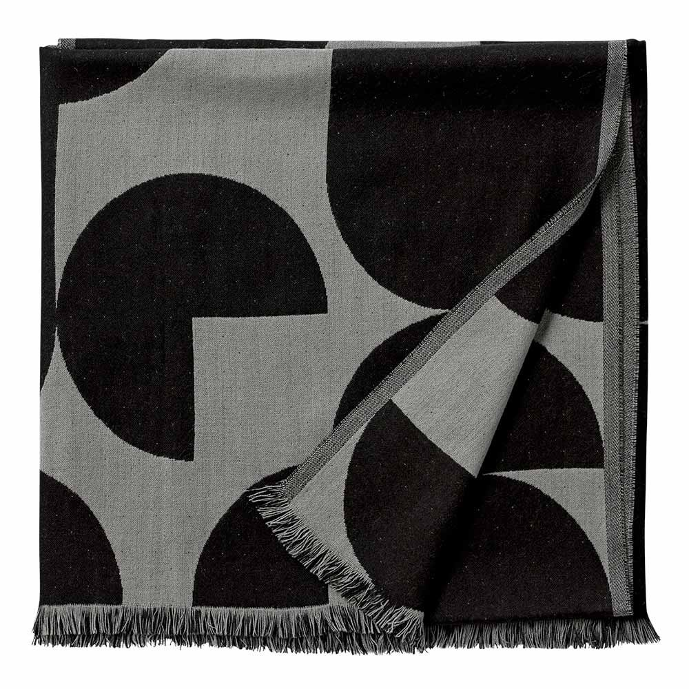 Forma throw black & light grey AYTM