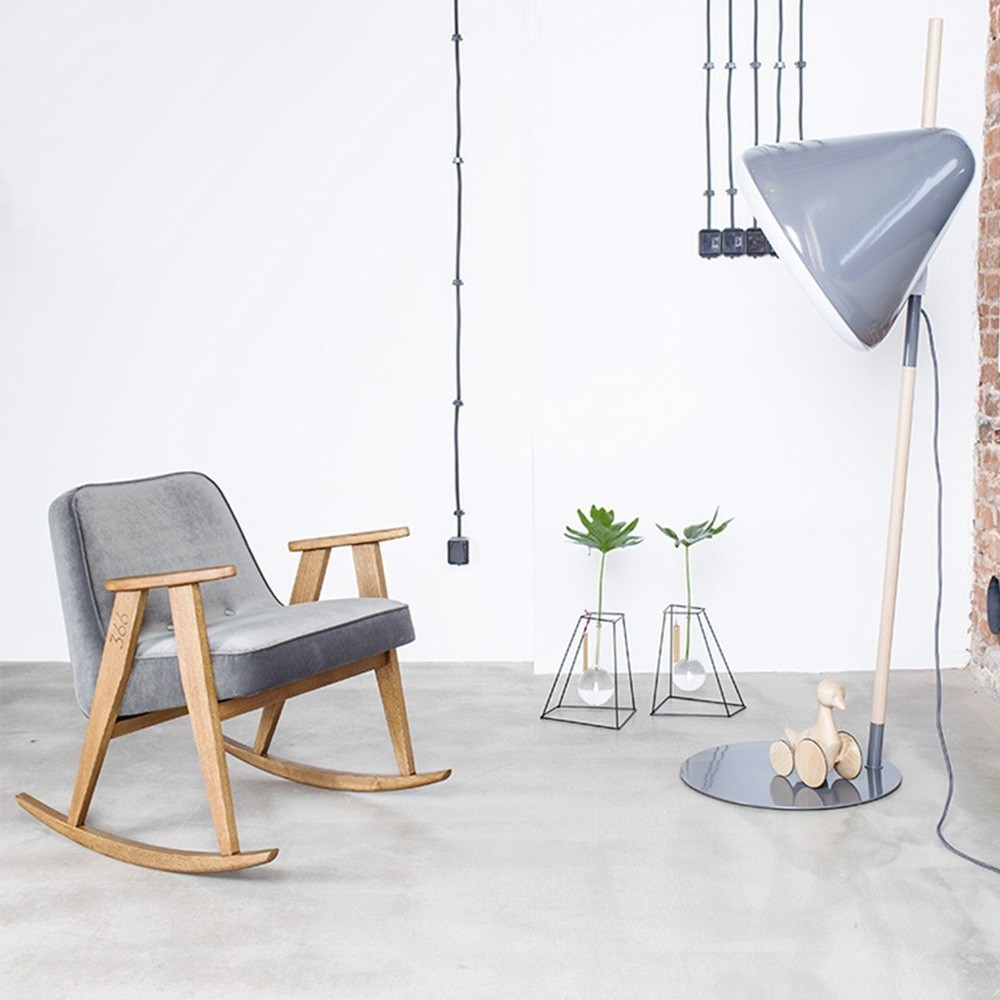 Rocking chair 366 Loft gris 366 Concept