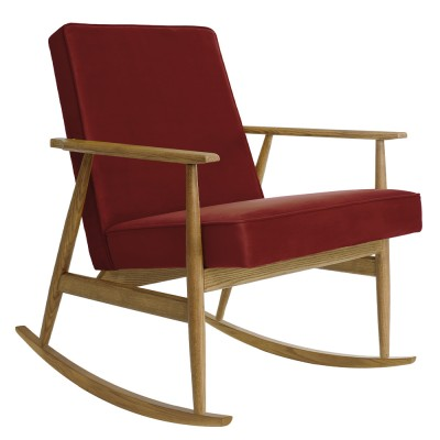 Fox rocking chair Velvet merlot 366 Concept