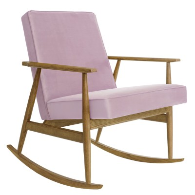 Fox rocking chair Velvet powder pink 366 Concept