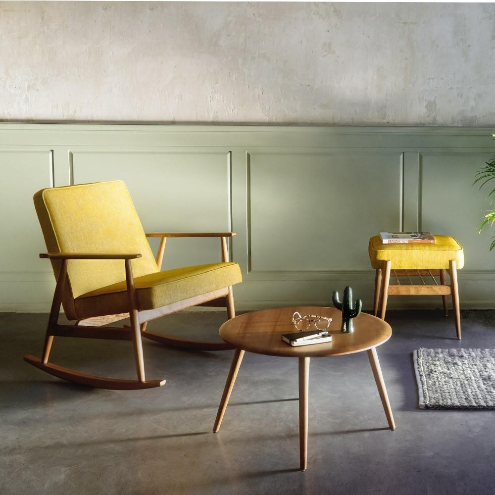 Fox Velvet poederroze schommelstoel 366 Concept