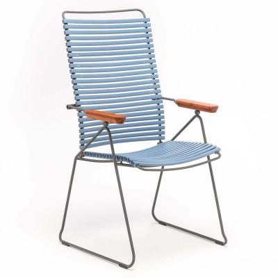 Chaise position Click bleu pigeon Houe