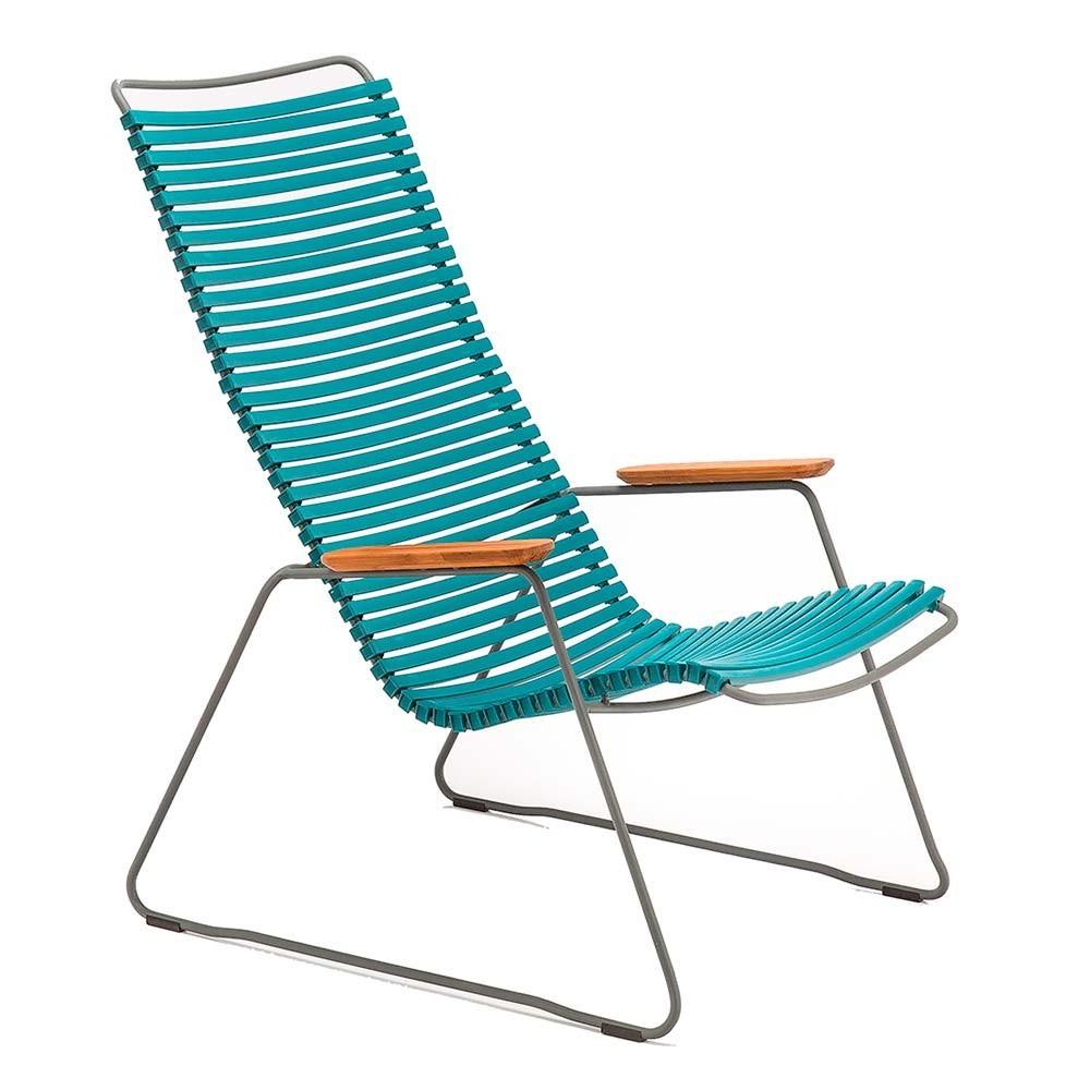 Chaise lounge Click pétrole Houe