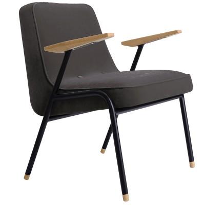 366 armchair Metal Velvet graphite 366 Concept