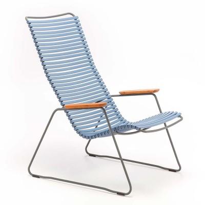Chaise lounge Click bleu pigeon Houe