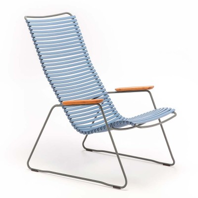 Click lounge chair pigeon blue Houe