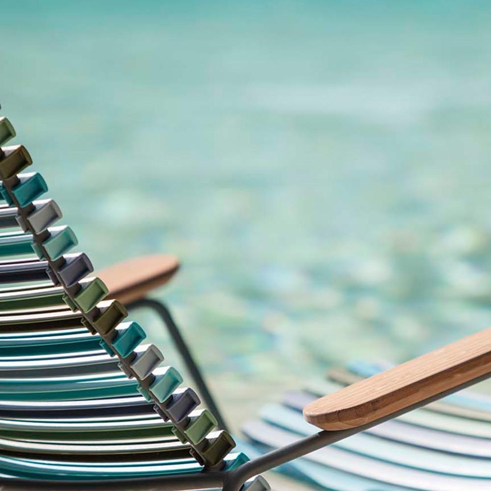 Click loungestoel duifblauw Houe