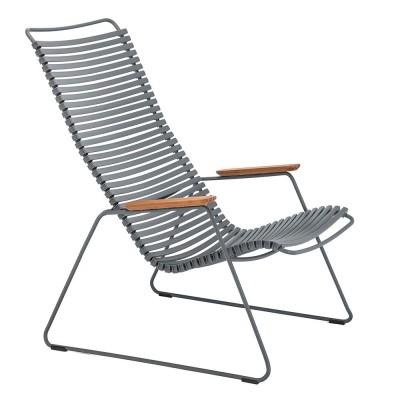 Chaise lounge Click gris foncé Houe
