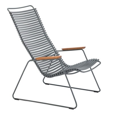 Click lounge chair dark grey Houe