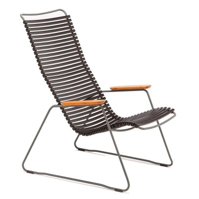 Click loungestoel zwart Houe