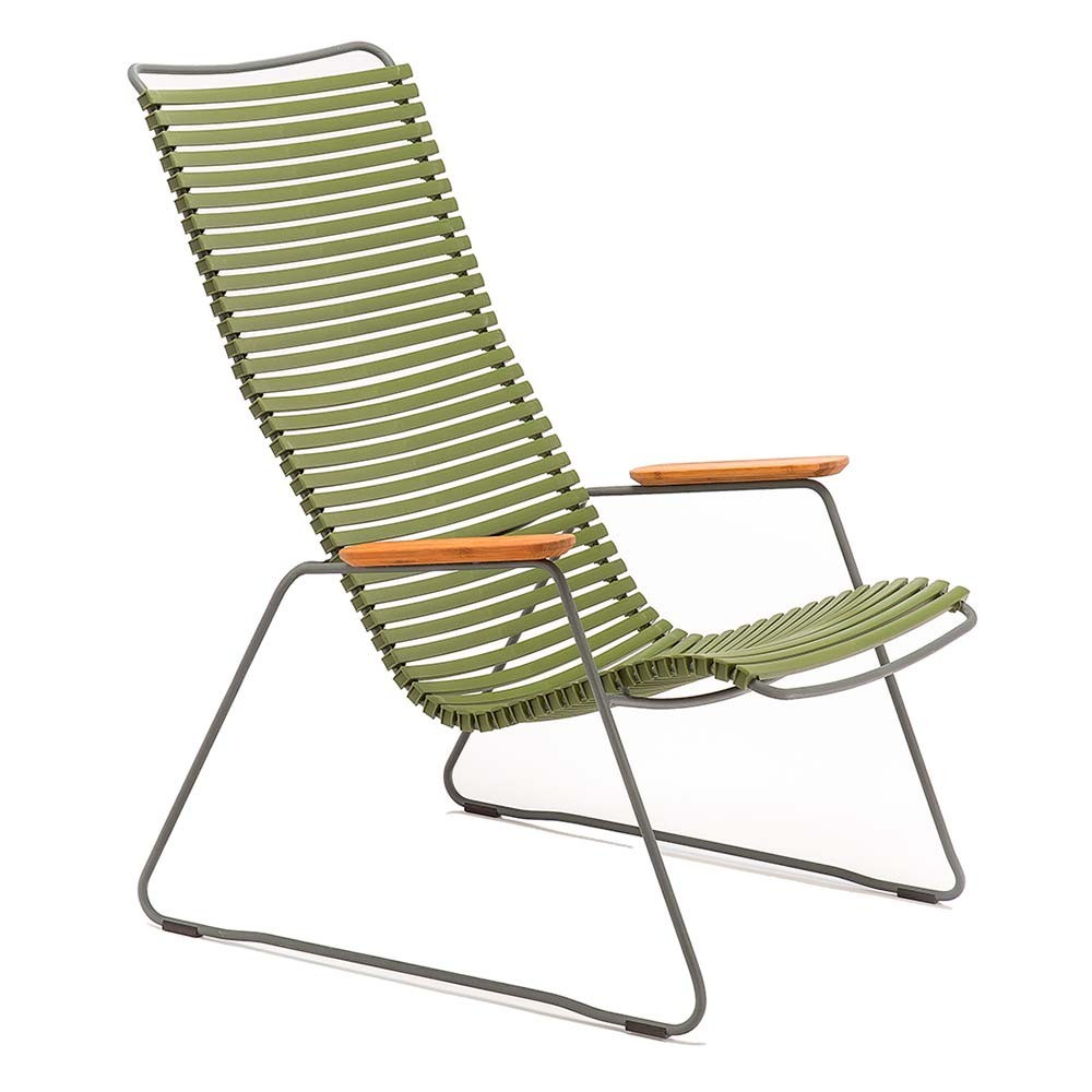 Click lounge chair olive green Houe