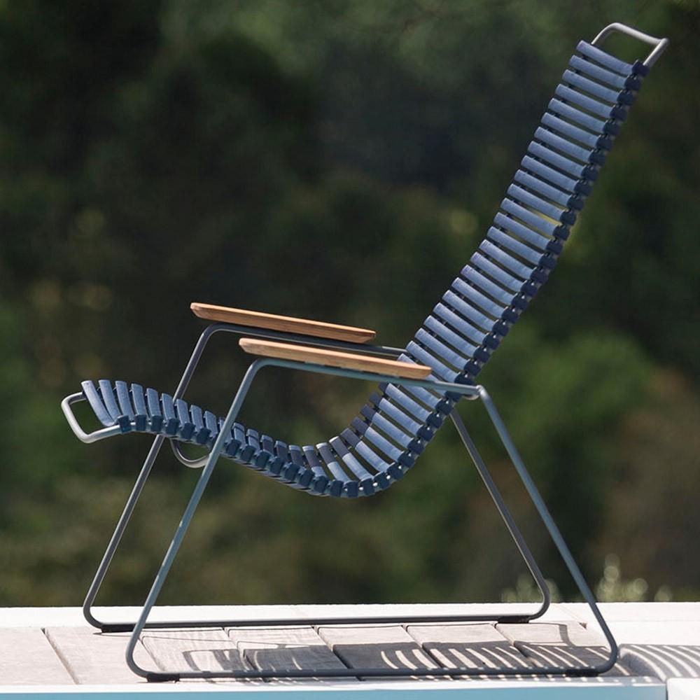 Click loungestoel olijfgroen Houe