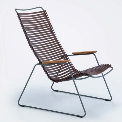 Click lounge chair plum Houe