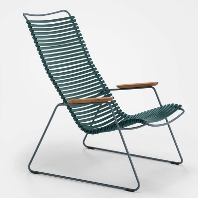 Click lounge chair pine green Houe