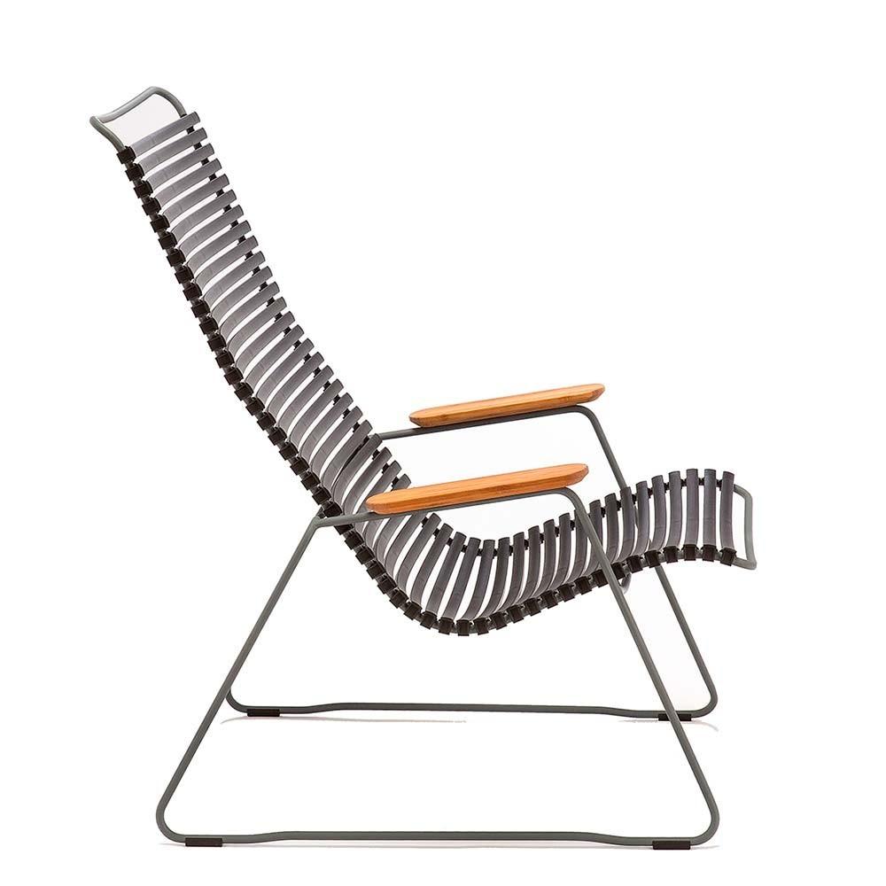Click loungestoel grenen groen Houe