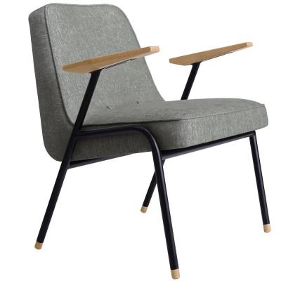 Fauteuil 366 Metal Loft gris 366 Concept