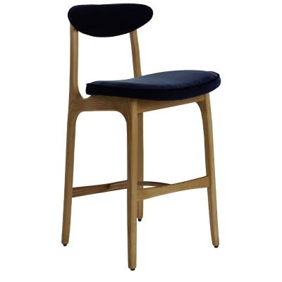 200-190 bar stool Velvet indigo 366 Concept