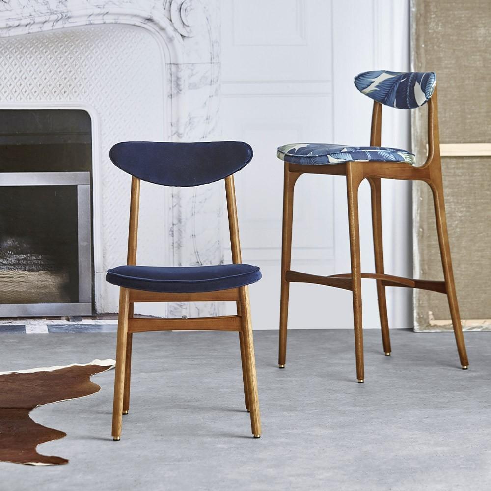 Chaise de bar 200-190 Velours merlot 366 Concept