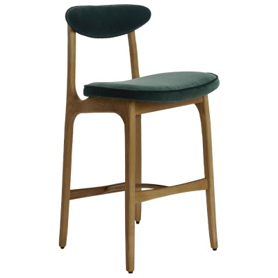 200-190 bar stool Velvet bottle green 366 Concept