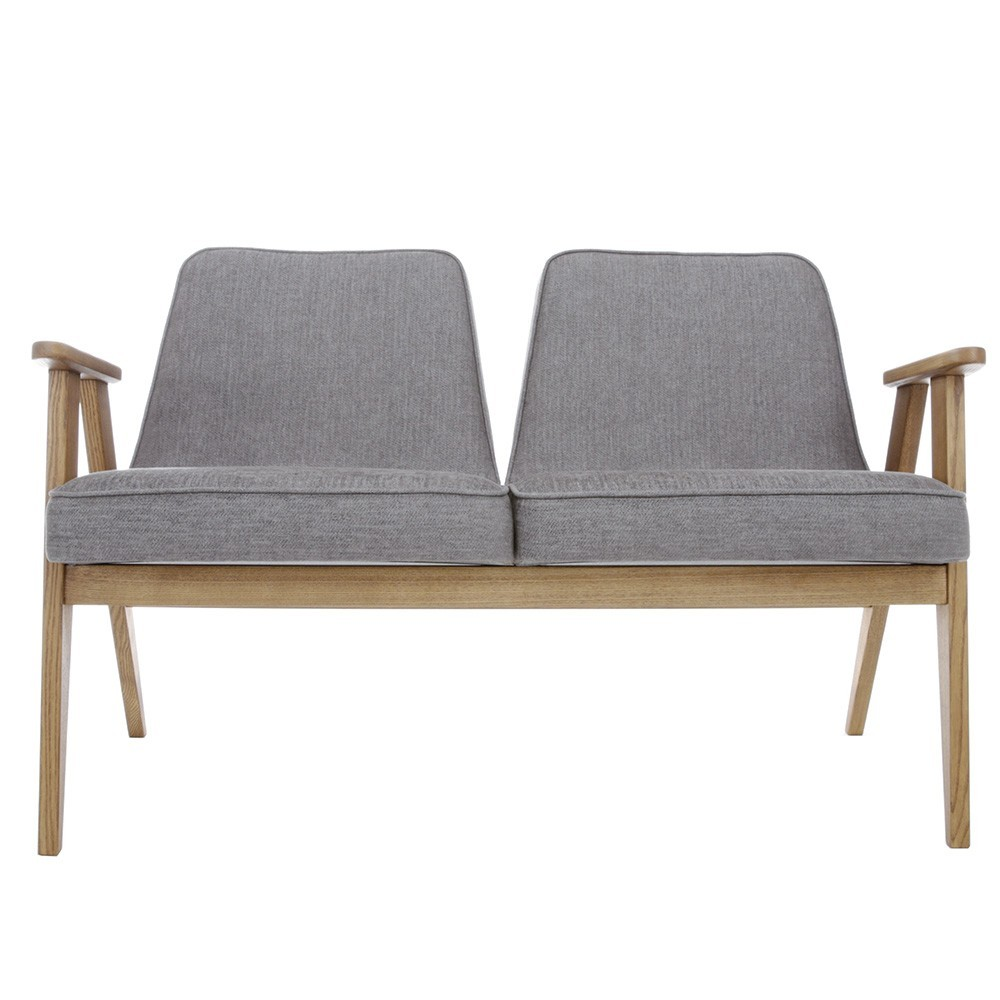 366 2-seater sofa Loft grey 366 Concept