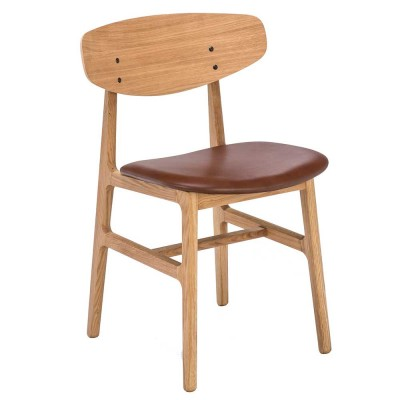 Siko chair oak & cognac Houe
