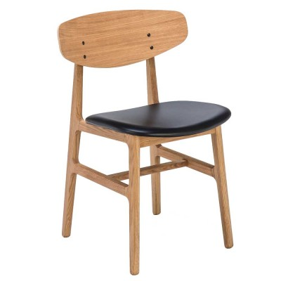 Siko chair oak & black Houe