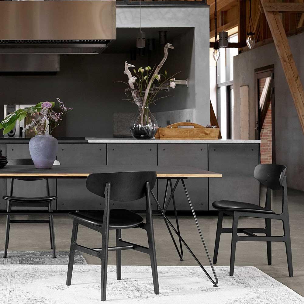 Siko chair oak & black Houe