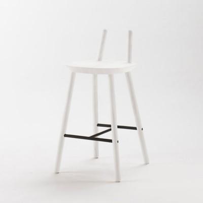 Chaise de bar Naïve Semi blanc Emko