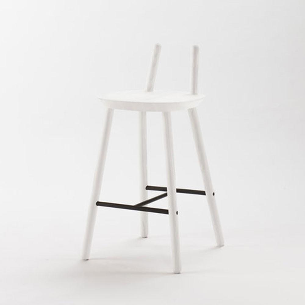Naïve Semi bar chair white Emko