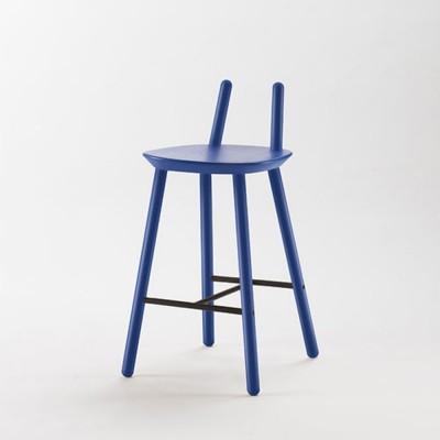 Chaise de bar Naïve Semi bleu Emko