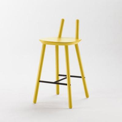 Chaise de bar Naïve Semi jaune Emko